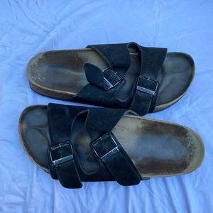 Birkenstock Arizona suede cork sandals 7.5